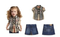 Free shipping,  kids clothes set, baby T shirt+jeans pants, special promoation,1set/lot--JYS14