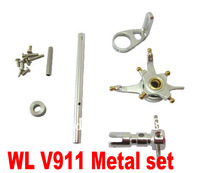 Free shipping+tracking no. WLToys WL Toys V911 4CH 2.4G Micro RTF Helicopter CNC Alloy Metal Upgrade set Siliver
