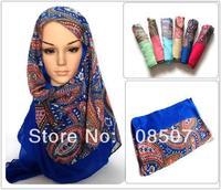 Fashion 10pcs/lot 100%  Viscose Paisley Scarf Shawl Wrap Spring Autumn Summer Winter Floral Wholesale Hijab Muslim Headband