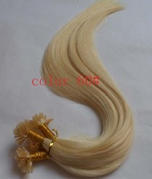 """Top quality 24"""" 60cm 18# Ash Blonde Color Keratin Nail U Tip Hair Pre-Bonded Human Hair Extensions Indian Remy 1g/s 100g/lot"""