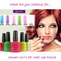 2014 New Brand Smart Gel Soak Off UV Nail gel polish 6pcs/lot(You choose 6 colors) 343Fashion Colors Available Free shipping