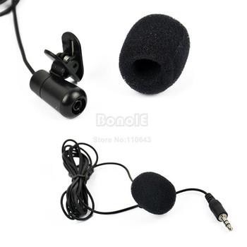 Wholesale 50Pcs/Lot 3.5mm Mini Speech Mic Microphone Clip for PC Desktop Notebook Free Shipping 8827