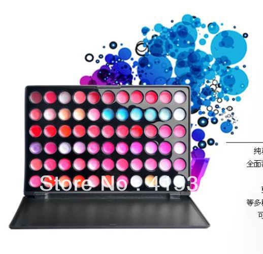 Free shpping! Fashion Makeup 66 Full Color Professional Lip Gloss Pallet Set/ Palette(China (Mainland))