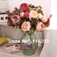 Free Shipping! Peony Trade Living Room Decorative Flower Simulation Flower Wholesale Household Ornaments Festive Scenery