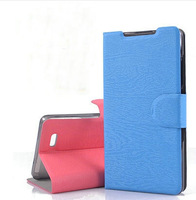 2014  Hightest Quality  Flip  Leather Case Pouch Cover For THL T5 T5S Moblie Phone + free screen protector as gift