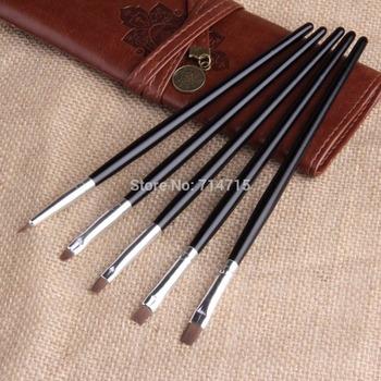 5 pcs Draw Paint Tool Set Nail Art Acrylic UV Gel Salon Flat Brush Pen Dotting Free / Drop Shipping