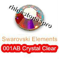 GENUINE Swarovski Elements ss10 AB Crystal Clear ( 001AB ) 144 pcs ( NO hotfix Rhinestones ) 10ss Round gems Glass 2058 FLATBACK