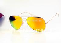 Free Shipping New Style Designer Sunglass Men's/Woman's Brand 3025-112/68 Gold Metal Sunglass Gold Iridium Lens 58mm Airmail