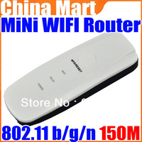 Mini USB 7in1 802.11 b/g/n AP Client 150Mbps Wireless WiFi Router /Repeater/ Extender Free Shipping + Drop Shipping
