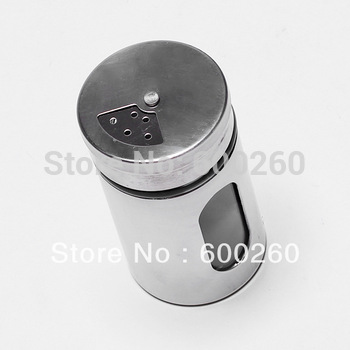 FREE SHIPPING Kitchen condiment container,glass liner of stainless steel skin durable cruet#8740