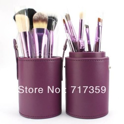 Wholesale Professional 1Set/lot New 100% new 12 pcs/Set Pro Cosmetic Makeup Brushes Set Make up Tool Dres,3colors 600214(China (Mainland))