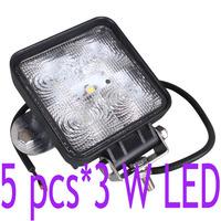 Waterproof 15W 10V-30V 12V/24V LED External Flood light 1150 Lumen for OffRoad Car Jeep Boat Truck Working