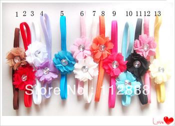 Hot Saling Baby Elastic Flower Hair Band Infant Toddler Headbands Girl Soft Silk Flower Hair Bows 24pcs/lot