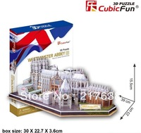 3D Puzzle westminster abbey DIY toy, free shipping