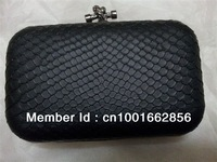 Free Shipping New Serpentinite PU Leather Women Clutch Bag Purse Handbag Evening Bag