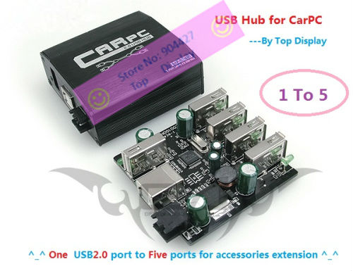 [10% Off ] Car PC & Automotive accessory/ USB Hub/ USB2.0 /1 to 5 /Wifi/GPS/3G/FM module extension hub /easy assembly/Quality(China (Mainland))