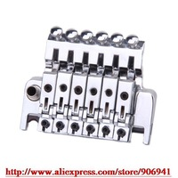 Freeshipping *Chrome/Black  New CR Guitar Double Tremolo Bridge Assembly System BL-3 #DHR11233