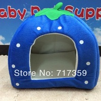 Free Shipping 1pc/Lot, 2013 NEW Strawberry Pet Dog bed for Cat House & Blue,Pink,Purple,Red Size L 650550