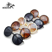 M59 vintage sunglasses big circle glasses prince's mirror round box sunglasses women's large sunglasses WITH BOX