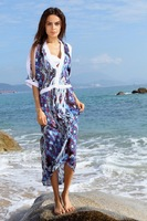 New Hot Sexy Women's Boho colour Flower Pattern Swimsuit Swimwear Beach Dress T82