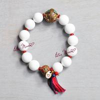 Lotus Mann White Agate Wrap Bracelet