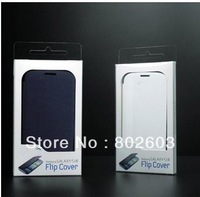 HOT,colorful back cover flip leather case  housing case for Samsung Galaxy S3 i9300 with retail packing, Free Shipping