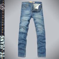 [TC Jeans] 2014 men clothing Free shipping Summer thin straigth jeans for men long pants slim light color jeans male hot