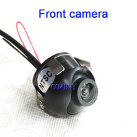 Front camera Free shipping ! 360 degree waterproof rotation front view car camera fit for side mirror and front bumper install