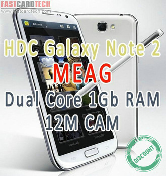 HDC Note 2 Mage- MTK6577 Dual Core 1.2Ghz 1G Ram 5.4 inch QHD Screen 12M Android 4.1.1 Phone