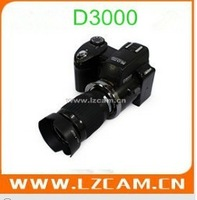 fashion& the cheapest  digital camera D3000 CMOS 5.0MP senor max interpolation to be 16MP