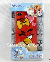Wholesale  Free shipping High quality 10pcs anime Bird Lovers series  for iphone4/4s phone shell