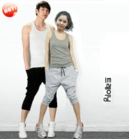 NEW Men Women Harem Baggy Hip Hop Dance Capri Tapered Shorts Sport Sweatpant Slacks Short Trousers Sweatpants Joggers Free Ship