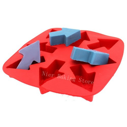Free shipping BC0003 re-useable silicone ice lattice mold Arrow-shaped chocolate mold ice mold ice box Wholesale(China (Mainland))