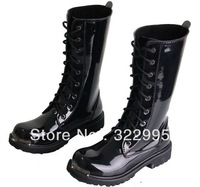 Free Shipping Men tall canister boots fashion Martin patent leather performances boots W102