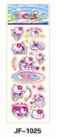 20 Sheets Combo Deal, Free shipping  TY0006 Hello Kitty, Kids Child Children Sticker, Girl Popular Cartoon Sticker Wholesale