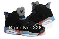 Free Shipping Famous Trainers 6 AIR Retro Men's Sports Basketball Shoes Black