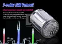 temperature sensitive led faucet light 7 color Glowing LED tap for bathroom kitchen basin faucet light self power Color Change