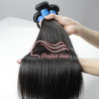 Perfect hair products Straight Peruvian virgin human hair extension 1b color 3pcs/lot  DHL Fast and Free shipping