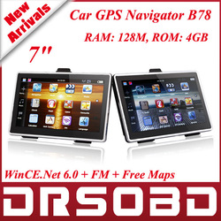 7.0 inch TFT LCD 800x480 Car GPS Navigation B78 128MB + FM + Free Europe Maps 4GB GPS Navigator System CE 6.0 MediaTek MT3351C(China (Mainland))