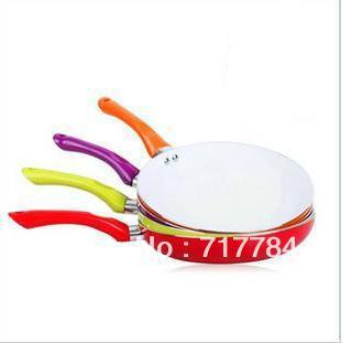 26cm Ceramic Pan Non-stick Coating Aluminum Fry Pan,4 colors cookware,FDA,LFGB Certification Free Shipping!(China (Mainland))