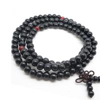 108Pcs 8mm Tibetan Buddhist Natural Black Sandalwood Ebony Mala meditation Prayer Beads bracelet/necklaceAE00898