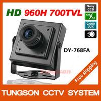 High Resolution HD Sony 960H CCD Effio 700TVL Security Mini CCTV Camera 0.001LUX Hidden Video Surveillance Cam Free Shipping