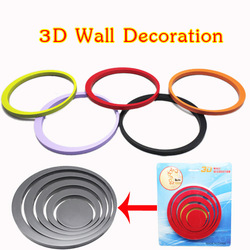2 set/lot 10 Colors 3D Wall Sticker &amp; DIY 3d Handmade Sticker For Promotion Free Shipping(China (Mainland))