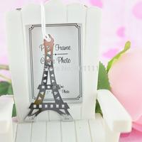 """La Tour Eiffel"" Brush-Finish Bookmark with Black-Silk Tassel Wedding party Birthday favors"