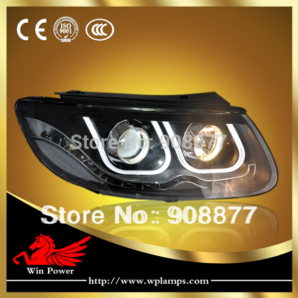 For 2006-2010 Hyundai Santa Fe Headlight with Angel Eye and Bi-xenon Projector U Type(China (Mainland))