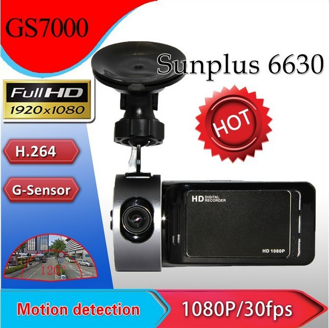 "GS7000 Car DVR GPS 2.7 "" TFT,H.264 G-Sensor,Recorder Video Dashboard Vehicle Camera. Free Shipping.(China (Mainland))"
