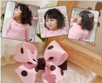 "6cm 2.5""Freeshipping! 2013 New Kids/Girl/Princess/Baby rose flower Hair clips/ Ribbon Hair Pins/Kroean Style"