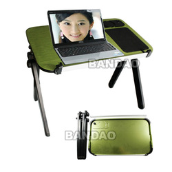 Fashion Laptop Folding Desk Notebook Computer Desk foldable Bed Stand + Cup holder + Mouse pad Stylish and Practical Convenient(China (Mainland))