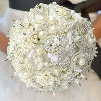 2013 new design customized wedding bouquet, luxury jewel bride bouquet, EMS/DHL free shipping