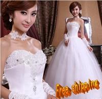 Love  rhinestone flower bride 2013 sweet princess real  wedding dress
